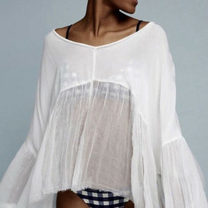 Anthropologie Lilka Sheer White Swing Cover-Up NWT